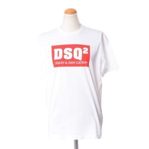 ディースクエアード(Dsquared2) DSQ2ロゴ入りTシャツ コットンジャージー ホワイト yokoaunty
