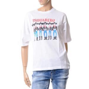 ディースクエアード Dsquared2 カウボーイプリントTシャツ コットン ホワイト yokoaunty