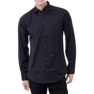 30% OFF ディースクエアード(Dsquared2) カーペンターノープライスシャツ コットンポプリンストレッチ ブラック