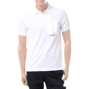 ラフシモンズフレッドペリー Raf Simons Fred Perry スペースポケットポロシャツ コットン ホワイト|yokoaunty