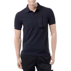 ラフシモンズフレッドペリー Raf Simons Fred Perry スペースポケットポロシャツ コットン ブラック|yokoaunty
