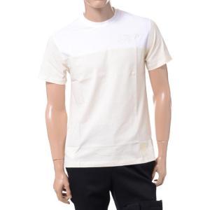 ラフシモンズフレッドペリー Raf Simons Fred Perry イニシャル刺繍Tシャツ コットン クリーム yokoaunty