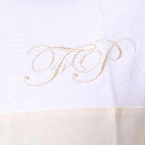 ラフシモンズフレッドペリー Raf Simons Fred Perry イニシャル刺繍Tシャツ コットン クリーム yokoaunty 04