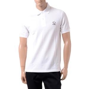 ラフシモンズ RAF SIMONS フレッドぺリー FRED PERRY ポロシャツ コットン ホワイト|yokoaunty