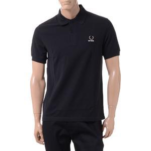ラフシモンズ RAF SIMONS フレッドぺリー FRED PERRY ポロシャツ コットン ブラック|yokoaunty