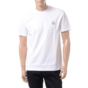 ラフシモンズ RAF SIMONS フレッドぺリー FRED PERRY Tシャツ コットン ホワイト|yokoaunty