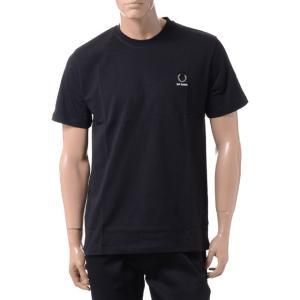 ラフシモンズ RAF SIMONS フレッドぺリー FRED PERRY Tシャツ コットン ブラック|yokoaunty
