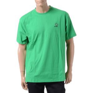 ラフシモンズ RAF SIMONS フレッドぺリー FRED PERRY バックプリントTシャツ コットン グリーン|yokoaunty