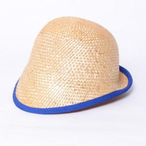 インポートブランド(import brand) つば付き帽子 ストロー ブルーパイピング yokoaunty