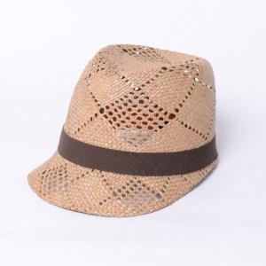 インポートブランド(import brand) つば付き帽子 ストロー ブラウンリボン yokoaunty