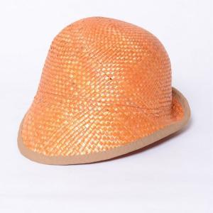 インポートブランド(import brand) つば付き帽子 ストロー オレンジ yokoaunty