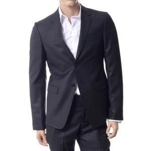 エンポリオアルマーニ(EMPORIO ARMANI) シュプリームノッチドラペル柄スーツ ウールシルク ブラック|yokoaunty