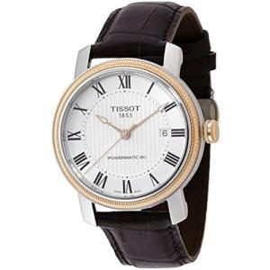 [ティソ] TISSOT 腕時計 ブリッジポート オートマティック パワーマティック80 シルバー文字盤 レザー T0974072603300 yokobun