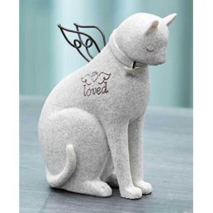 ペット メモリアル グッズ 心を癒してくれる猫 お墓 墓石 Loved 置き物 人形 [並行輸入品] yokobun