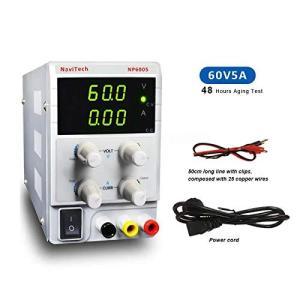 調整できるDC安定化な電源60V 5A、3-デジタルLEDディスプレイ、ワニ口付き高精度調整可能なスイッチング電源、 yokobun