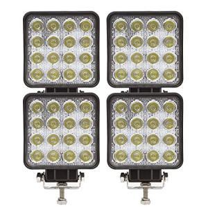 AutoGo LEDワークライト 改善版 CREE製 48W LED作業灯 广角タイプ 角型 16連 10-30VDC対応(12V/24V兼用) 新設計 防水・防塵 yokobun