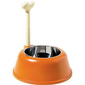 【正規輸入品】 ALESSI アレッシィ Lupita ドッグボウル 犬のエサ入れ オレンジ AMMI02 O yokobun