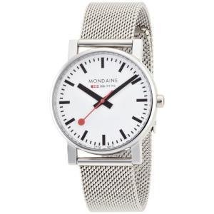 [モンディーン]MONDAINE 腕時計 エヴォ メンズ ホワイト文字盤 メッシュメタルブレスレット A658.30300.11SBV メンズ [ yokobun