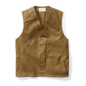 Filson OIL TIN CLOTH VEST #10265|yokohama-marine-and-supply