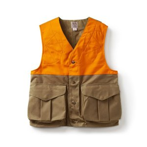 Filson Tin Cloth Upland Hunting Vest with Blaze Orange #11016025|yokohama-marine-and-supply