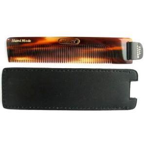 KENT ハンドメイドコームNU22 黒い革のケース付|yokohama-marine-and-supply