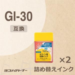 GI-30Y キヤノン プリンターインク イエロー 2セット 互換インクボトルG6030 G5030...