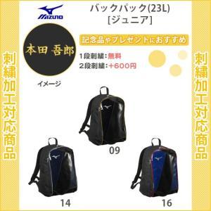 【名入れ1段無料】 野球 リュック 刺繍 ジュニア バット収納 ミズノ バックパック(23L)(1f...