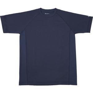 PHITEN ボディケア RAKUシャツ SPORTS 吸汗速乾 半袖 ネイビー L 16 Tシャツ...