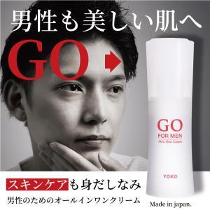 オールインワンクリーム GO FOR MEN 80mL メンズコスメ 男性化粧品 化粧水 乳液 美容...