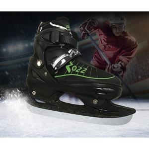 大人用アイススケートシューズ アイスホッケーシューズ ブラック/ホワイト ホッケー 氷靴 収納バッグ付き xzbdx07