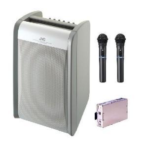 JVC 800MHz帯ポータブルワイヤレスアンプ(ダイバシティ)/CD付 PE-W51DCDBX1+WM-P970X2+WT-UD84X1|yokoproshop