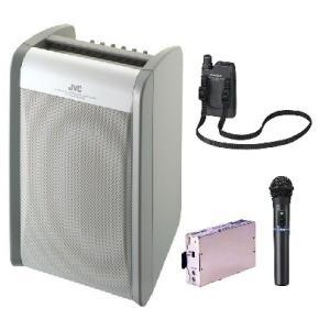 JVC 800MHz帯ポータブルワイヤレスアンプ(ダイバシティ)/CD付 PE-W51DCDB+WM-P970+WM-P980+WT-UD84X1|yokoproshop