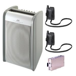 JVC 800MHz帯ポータブルワイヤレスアンプ(ダイバシティ)/CD付 PE-W51DCDB+WM-P980X2+WT-UD84|yokoproshop