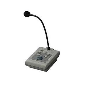 ・業務用途を目的とした各種音響装置用の単局リモコンマイク。 ・下り2音のコールサインを内蔵するととも...