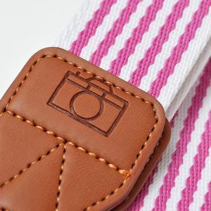 カメラ ネックストラップ ピンクストライプ yokota-camera