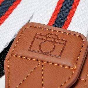 カメラ ネックストラップ トリコロール(青×赤×白) yokota-camera