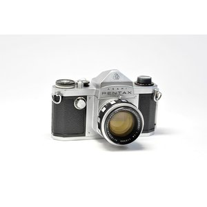 Asahi Pentax K Auto-Takumar 55mm / f1.8付き 【中古・整備済み】アサヒペンタックスK レンズ付き|yokota-camera