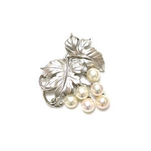 あこや真珠 8mmUP 5つ珠 ブローチ yokota-pearl