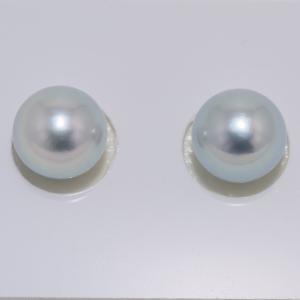 あこや真珠 ナチュラルブルー8.5mm イヤリングまたはピアス|yokota-pearl