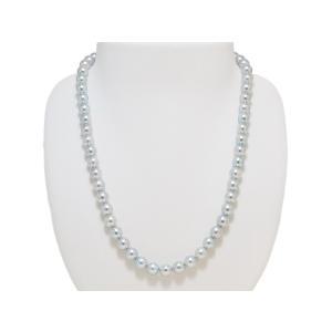 真多麻(まだま) パールネックレス あこや真珠 ナチュラルブルー 鑑別書つき ブルー(グレー)系 7.0mm〜7.5mm ネックレス イヤリングまたはピアス 2点セット|yokota-pearl|02