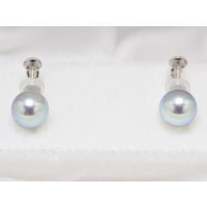 真多麻(まだま) パールネックレス あこや真珠 ナチュラルブルー 鑑別書つき ブルー(グレー)系 7.0mm〜7.5mm ネックレス イヤリングまたはピアス 2点セット|yokota-pearl|03