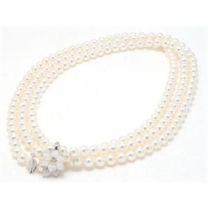 あこや真珠ネックレス6.5mm〜7.0mm 125cmロング|yokota-pearl