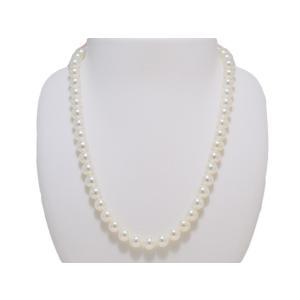 パールネックレス 無調色 7.5mm〜8.0mm あこや 真珠 ネックレス 花珠鑑別書取得可能グレード 冠婚葬祭 レディース|yokota-pearl