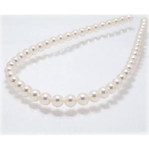 あこや真珠ネックレス8.5mm〜9.0mm 【35cm】【花珠鑑別書可】【AAA】|yokota-pearl