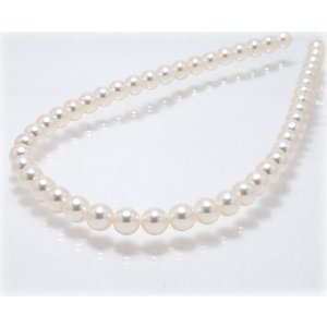 あこや真珠ネックレス8.5mm〜9.0mm 【42cm】【花珠鑑別書可】【AAA】|yokota-pearl