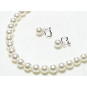 花珠鑑別書つきあこや真珠ネックレス8.5mm〜9.0mm 2点セット|yokota-pearl