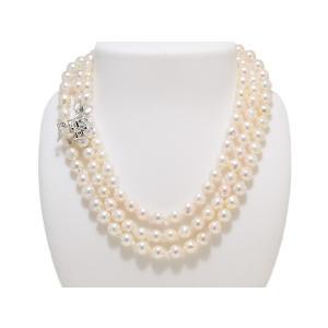 あこや  真珠 バロック パール ネックレス 120cm ロング 7.5mm〜8.0mm レディース ファッション|yokota-pearl