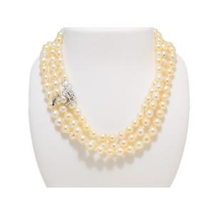 あこや  真珠 バロック パール ネックレス ゴールド 120cm ロング 7mm〜7.5mm レディース ファッション|yokota-pearl