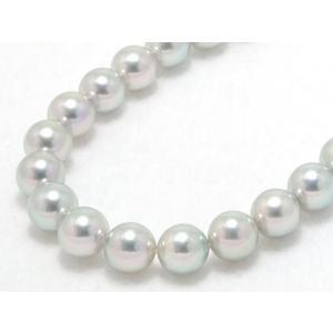 【真多麻(まだま)】【高品質】あこや真珠ナチュラルグレー(ナチュラルブルー)ネックレス8.0mm〜8.5mm【和珠】|yokota-pearl