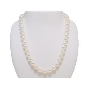 オーロラ天女鑑別書付き あこや真珠9.5mm〜10.0mmネックレス|yokota-pearl